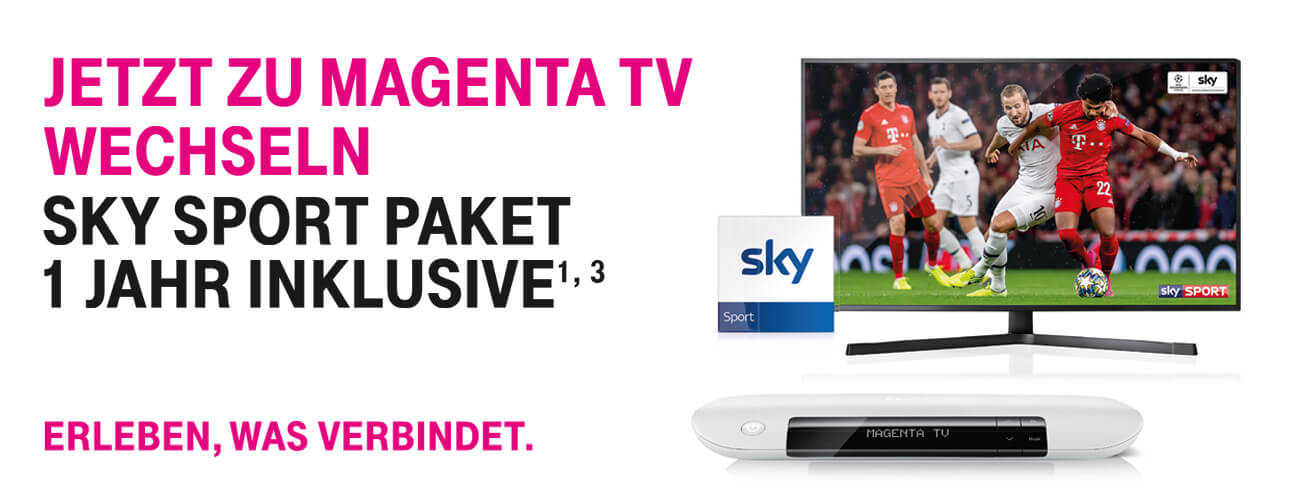 Telekom Magenta TV Angebot mit Sky