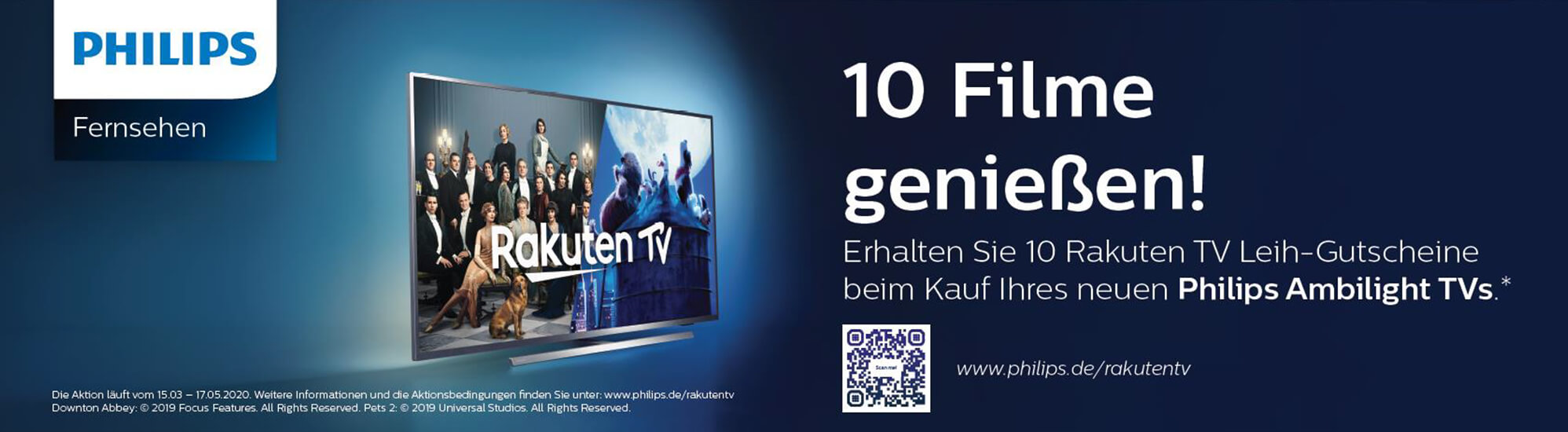 Philips Rakuten TV Aktion