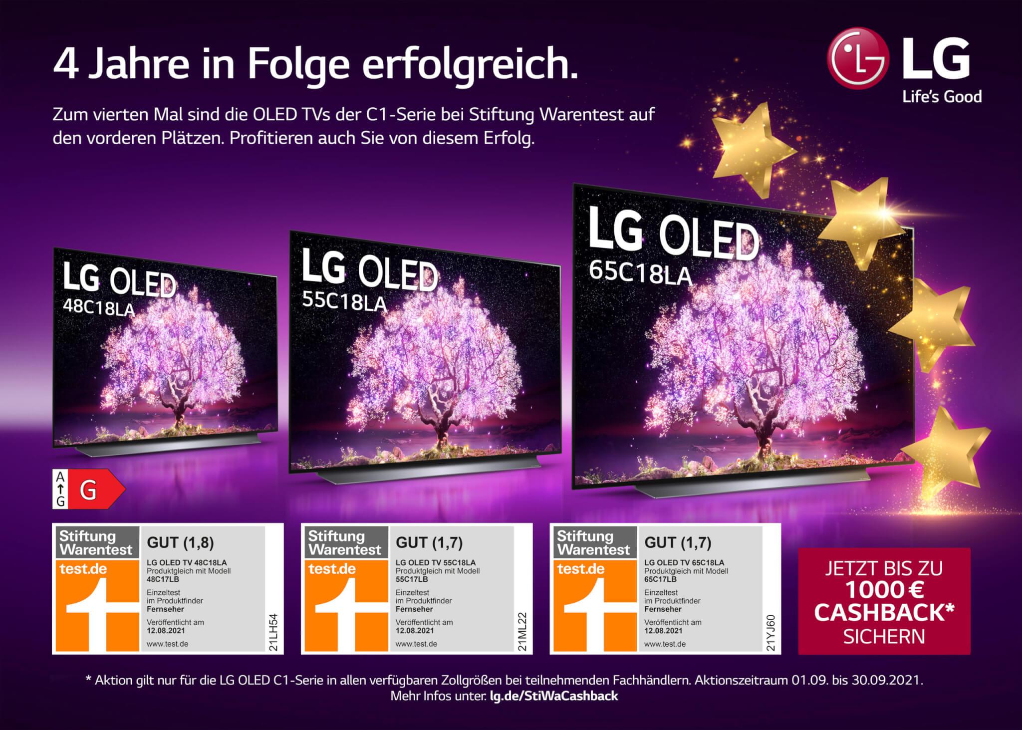 LG OLED C1 Cashback Aktion