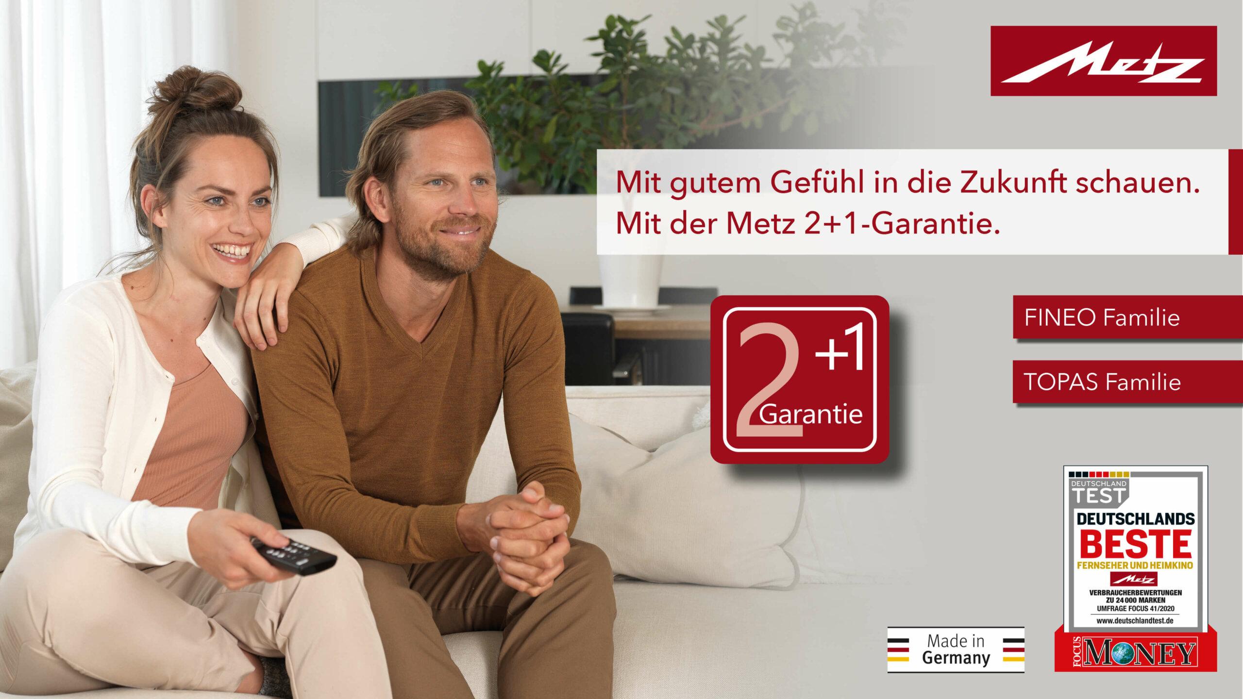 Metz Fineo und Topas - 3 Jahre Garantie