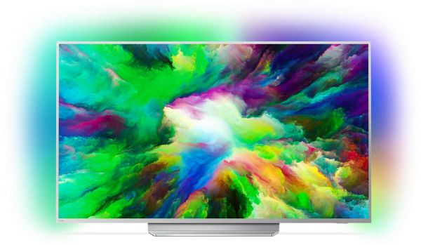 Philips 49 PUS 7803 - Ambilight 4K TV | 49 Zoll (123 cm) silber