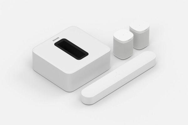 Sonos Beam 5.1 Heimkino Set mit Sub und 2x One SL weiß