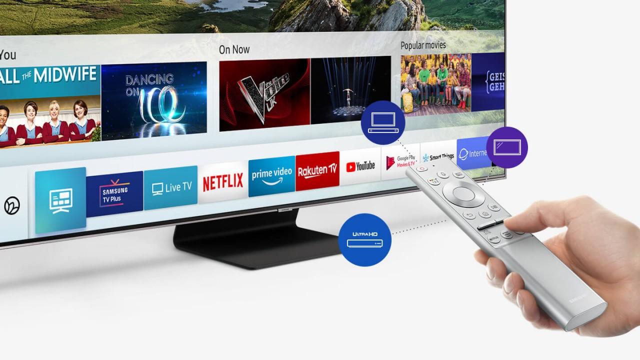 Samsung QLED Smarthub und One Remote