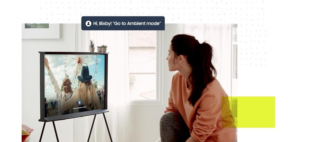 Samsung Serif TV Bixby Sprachsteuerung