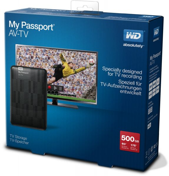 Western Digital My Passport TV/AV (500 GB)