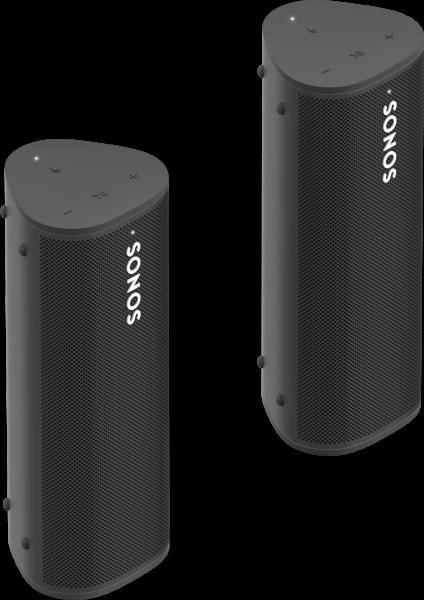 Sonos Roam 2er Set | für zwei Räume oder als Stereo-Paar schwarz