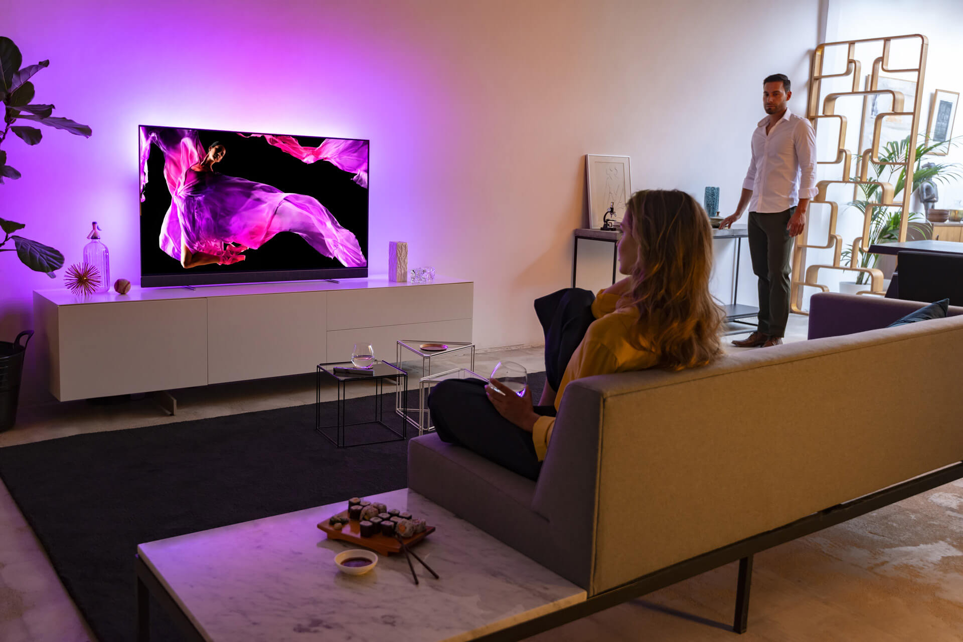 Philips Ambilight im OLED 903