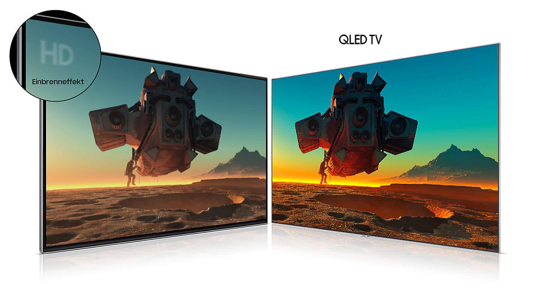 QLED TV - Kein Einbrennen
