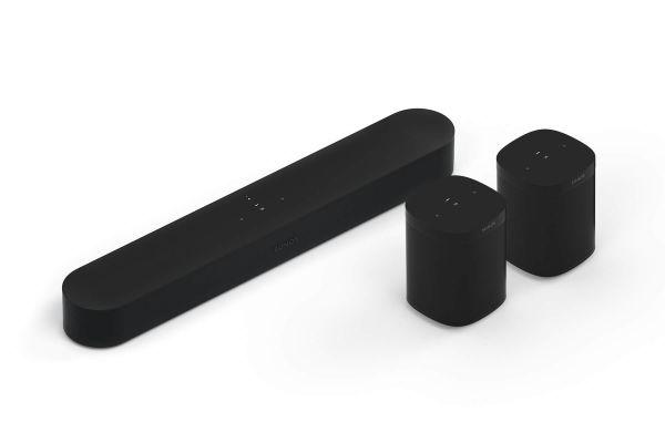 Sonos Beam 5.0 Heimkino Set mit 2x One SL Schwarz