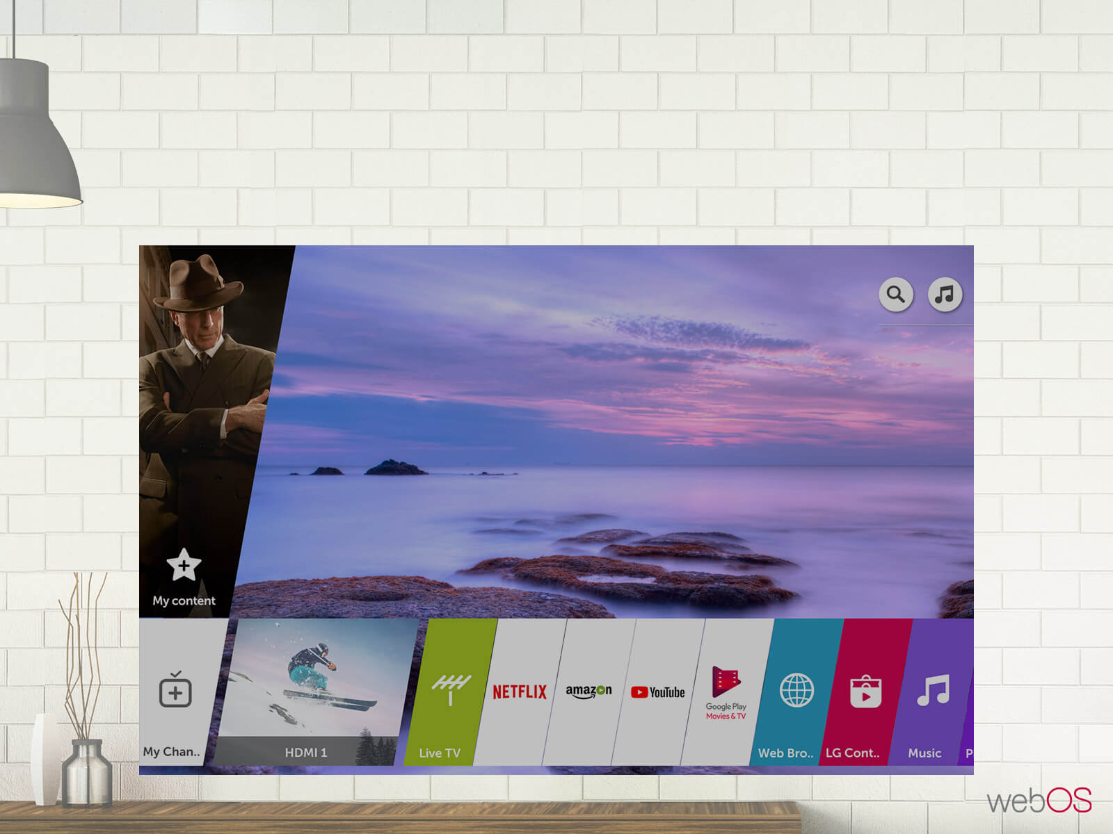 LG SUHD TV SK9500 Smart Features mit webOs