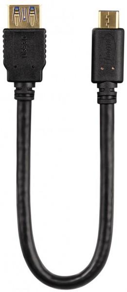 Hama USB-3.0-Adapterkabel (0,15m) Schwarz