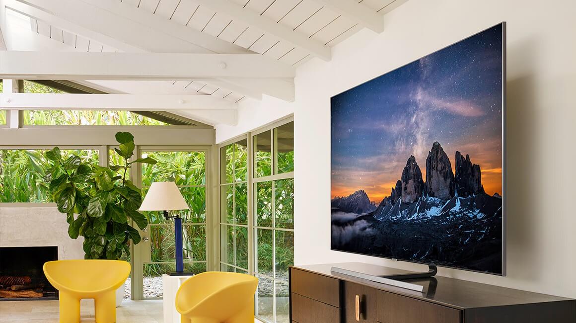 Samsung Q80R QLED im Wohnzimmer