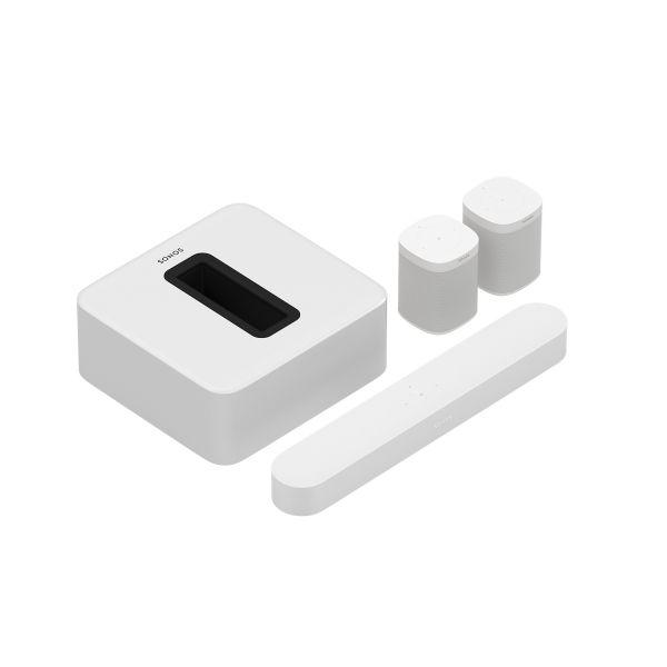 Sonos Beam 5.1 Heimkino Set mit Sub und 2x One (Gen. 2) weiß