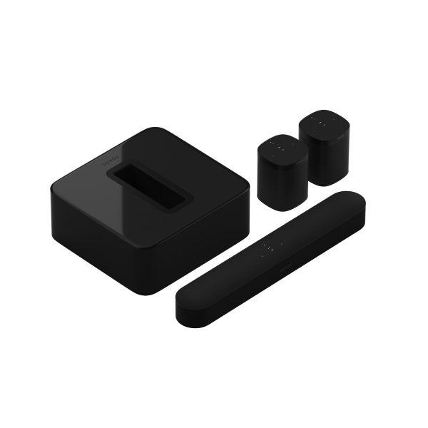 Sonos Beam 5.1 Heimkino Set mit Sub und 2x One Schwarz