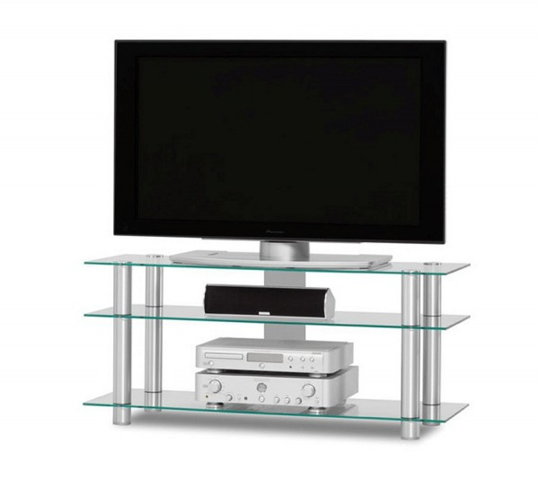 Just-Racks TV1203AL-KG klarglas