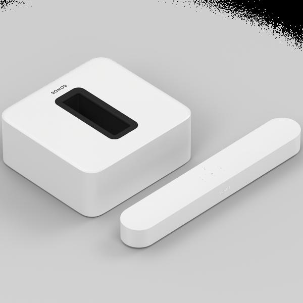 Sonos Beam 3.1 Heimkino Set mit Sub weiß