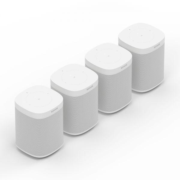 Sonos One 4er Bundle (4 Stück) weiß