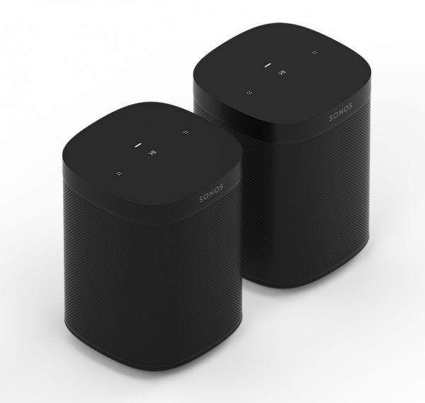 Sonos One SL | 2er Bundle (Paar) schwarz