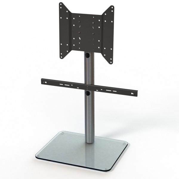 Just-Racks TV600SP-KG inkl. Soundbar-Adapter klarglas