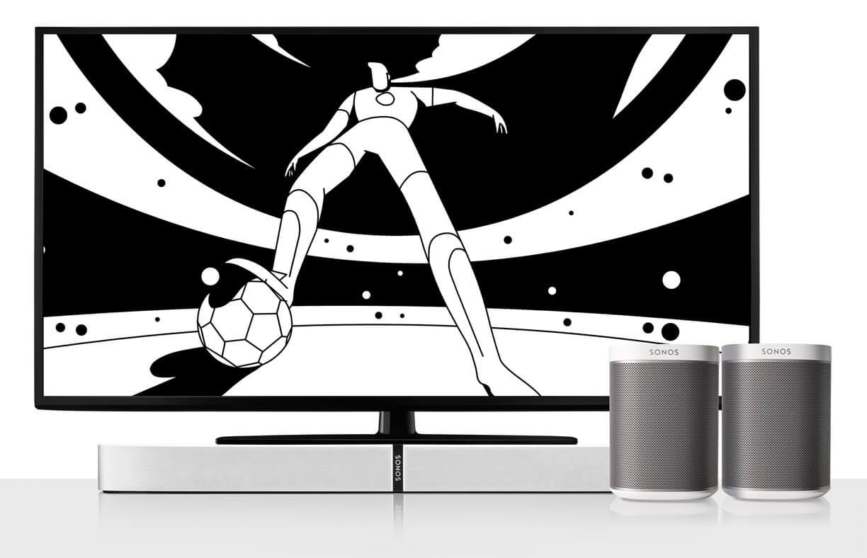 Sonos Playbase und Play1 Fussball Aktion