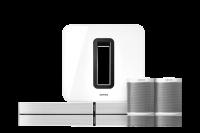 Sonos 5.1 Heimkino Set - PLAYBASE, Subwoofer & 2x Play:1 weiß