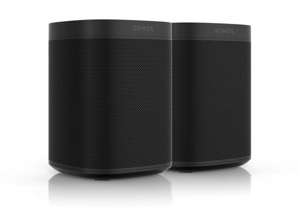 Sonos One 2er Bundle (2 Stück) - Stereo Paar schwarz