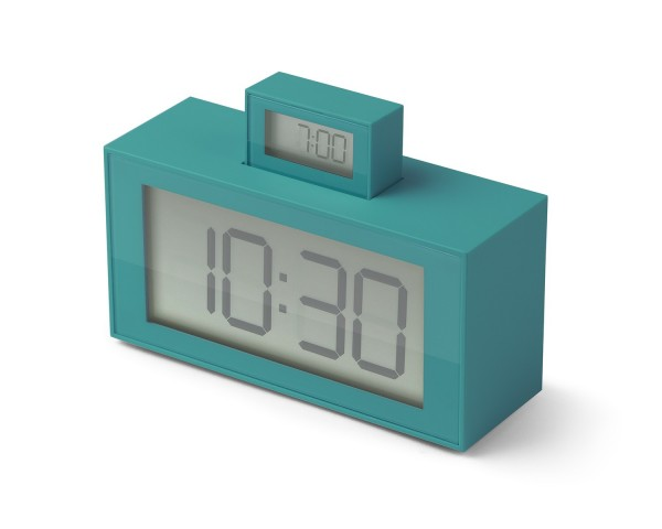 Lexon INOUT - LR139 V5 - LCD Uhrenwecker türkis   Kundenretoure